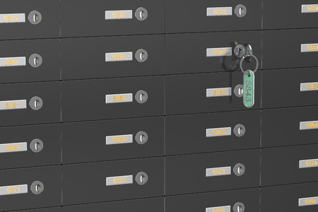 deposit: safe deposit boxes, 3D rendering Stock Photo