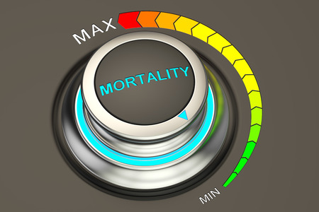 mortality: min level of mortality concept, 3D rendering