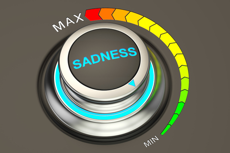 strategic position: min level of sadness concept, 3D rendering Stock Photo