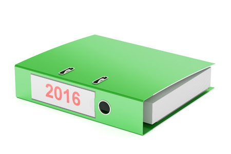 new account: 2016 ring binder, report concept. 3D rendering isolated on white background