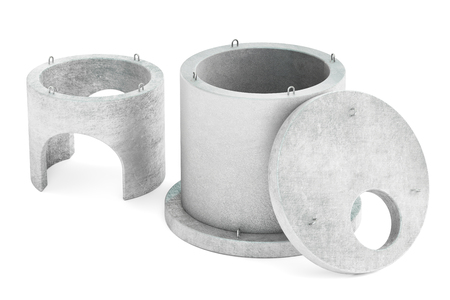 manhole rings, 3D rendering  isolated on white background