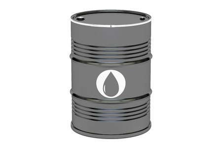 import trade: oil barrel, 3D rendering isolated on white background