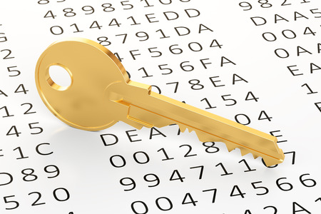 encryption: Encryption concept, 3D rendering Stock Photo