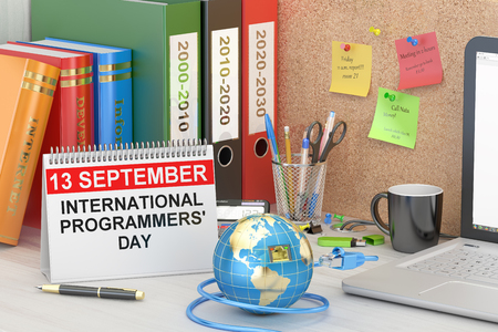 programmers: International Programmers Day concept, 3D rendering