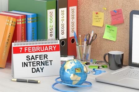 safer: Safer Internet Day concept, 3D rendering Stock Photo