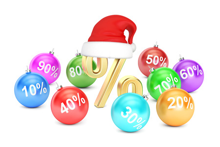 Christmas Sale concept, 3D rendering isolated on white background Stock Photo