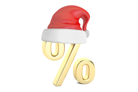 Christmas Sale and Discount concept, 3D rendering isolated on white background Stock Photo
