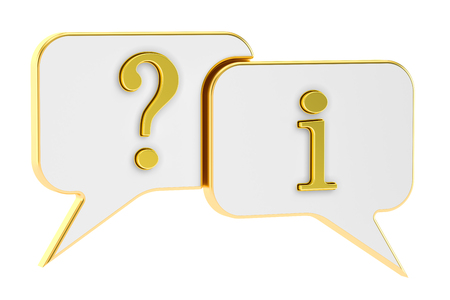 Speech Bubbles Question Information concept, 3D rendering