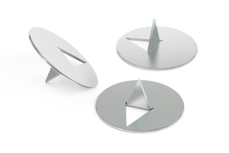 thumbtack: set of thumbtack, 3D rendering isolated on white background Stock Photo
