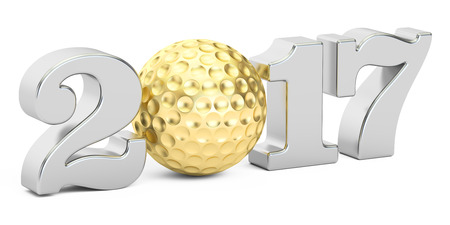 golf 2017 concept, 3D rendering Stock Photo