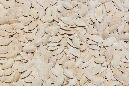 pumpkin seeds background, texture Stock Photo