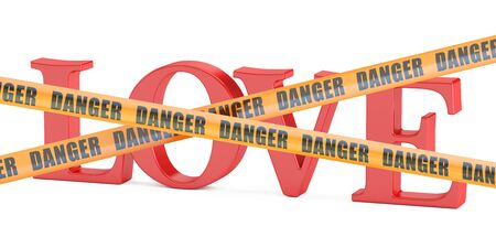 dangerous love concept, 3D rendering isolated on white background Stock Photo