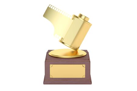 Photo award concept. 3D rendering isolated on white background Stock Photo