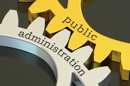 Concept de l'administration publique sur les pignons, le rendu 3D Banque d'images - 68451807