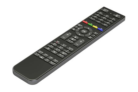 hdtv: Remote control from digital satellite receiver, 3D rendering isolated on white background Stock Photo