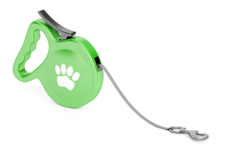 retractable: Automatic Retractable Traction Rope. Walking Lead Leash, 3D rendering