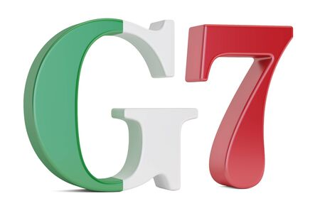 security council: G7 in Italy concept, 3D rendering