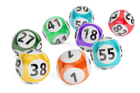 lottery balls closeup, 3D rendering isolated on black background