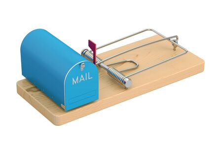 mailbox in mousetrap, 3D rendering