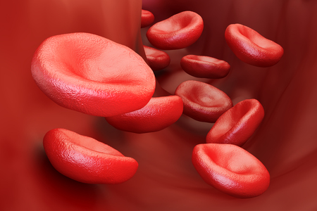 red blood cells background, 3D rendering