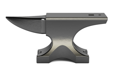 anvil closeup, 3D rendering isolated on white background Imagens