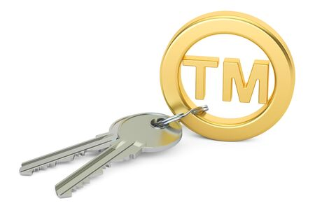 Trademark concept,  3D rendering isolated on white background Stock Photo