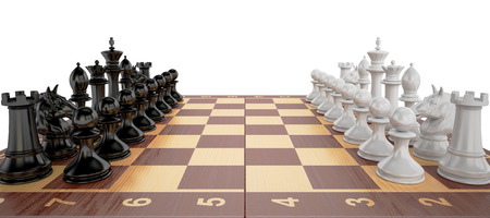 Chess - start the party, 3D rendering