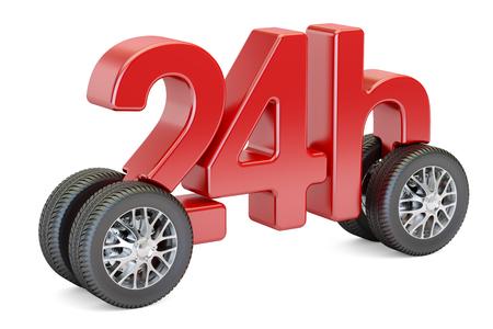 24 配信概念、3 D の分離の白い背景を描画