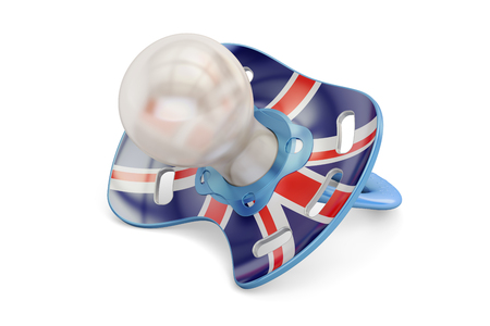 britannia: UK Maternity and birthrate in Great Britain concept, 3D rendering isolated on white background