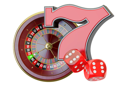 Casino concept. 3D rendering isolated on white background Stock Photo