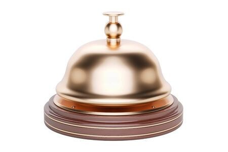 Reception bell, 3D rendering isolated on white background Stock Photo