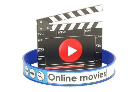Online movies concept, 3D rendering