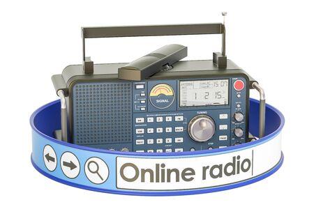 Concetto di radio online, rendering 3D Archivio Fotografico - 78576057