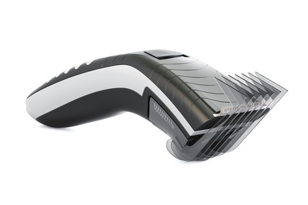 Electric hair clipper or trimmer, 3D rendering isolated on white background