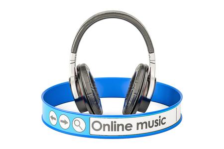 audition: Online Music concept, 3D rendering