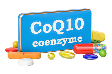 Coenzyme Q10 concept, 3D rendering isolated on white background Reklamní fotografie