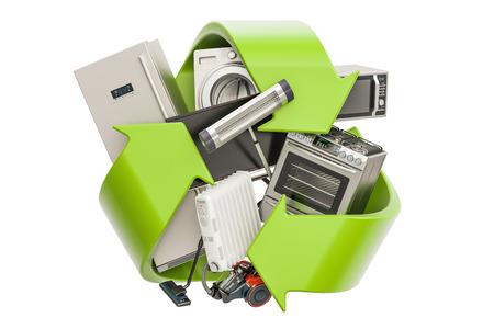 녹색 가전 제품, 3D 렌더링 기호를 재활용 스톡 콘텐츠 - 81165504