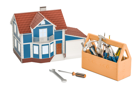 Home repair service concept. 3D rendering isolated on white background