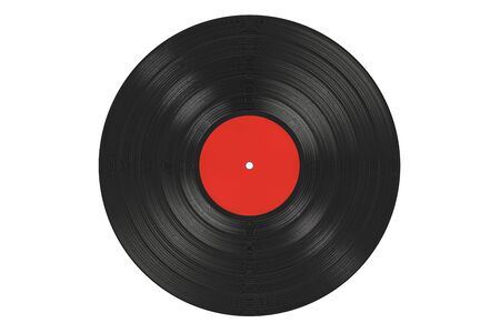 Vinyl record, 3D rendering isolated on white background