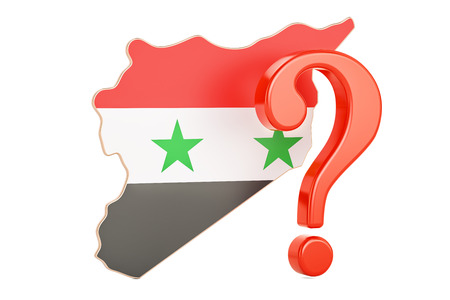 Syrian Question concept, 3D rendering isolated on white background Stock Photo