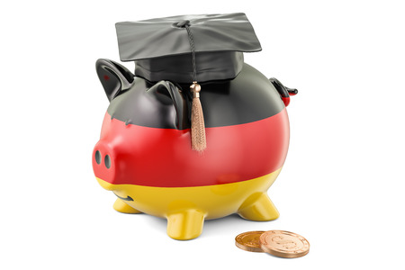 savings account: Savings for education in Germany concept, 3D rendering isolated on white background