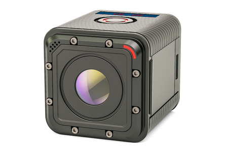 Modern dashcam DVR, 3D rendering isolated on white background