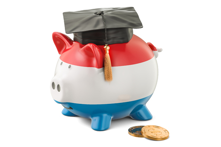 savings account: Savings for education in Luxembourg concept, 3D rendering isolated on white background