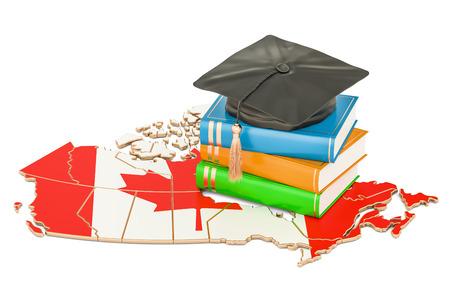 Educación en concepto de Canadá, representación 3D aislada en el fondo blanco Foto de archivo - 83043118