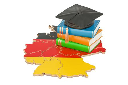 Education in Germany concept, 3D rendering isolated on white background Stock Photo - 83078169
