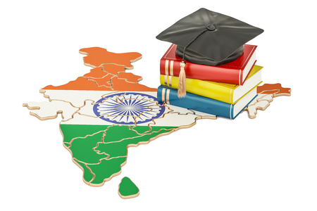 Education in India concept, 3D rendering isolated on white background