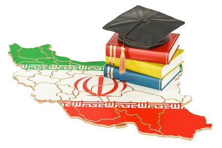 Education in Iran concept, 3D rendering isolated on white background