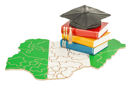 Education in Nigeria concept, 3D rendering isolated on white background