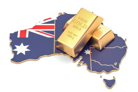 Foreign-exchange reserves of Australia concept, 3D rendering isolated on white background Stock Photo