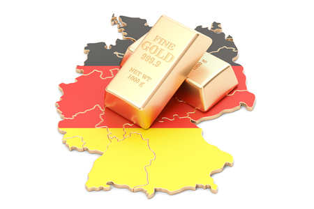 Foreign-exchange reserves of Germany concept, 3D rendering isolated on white background